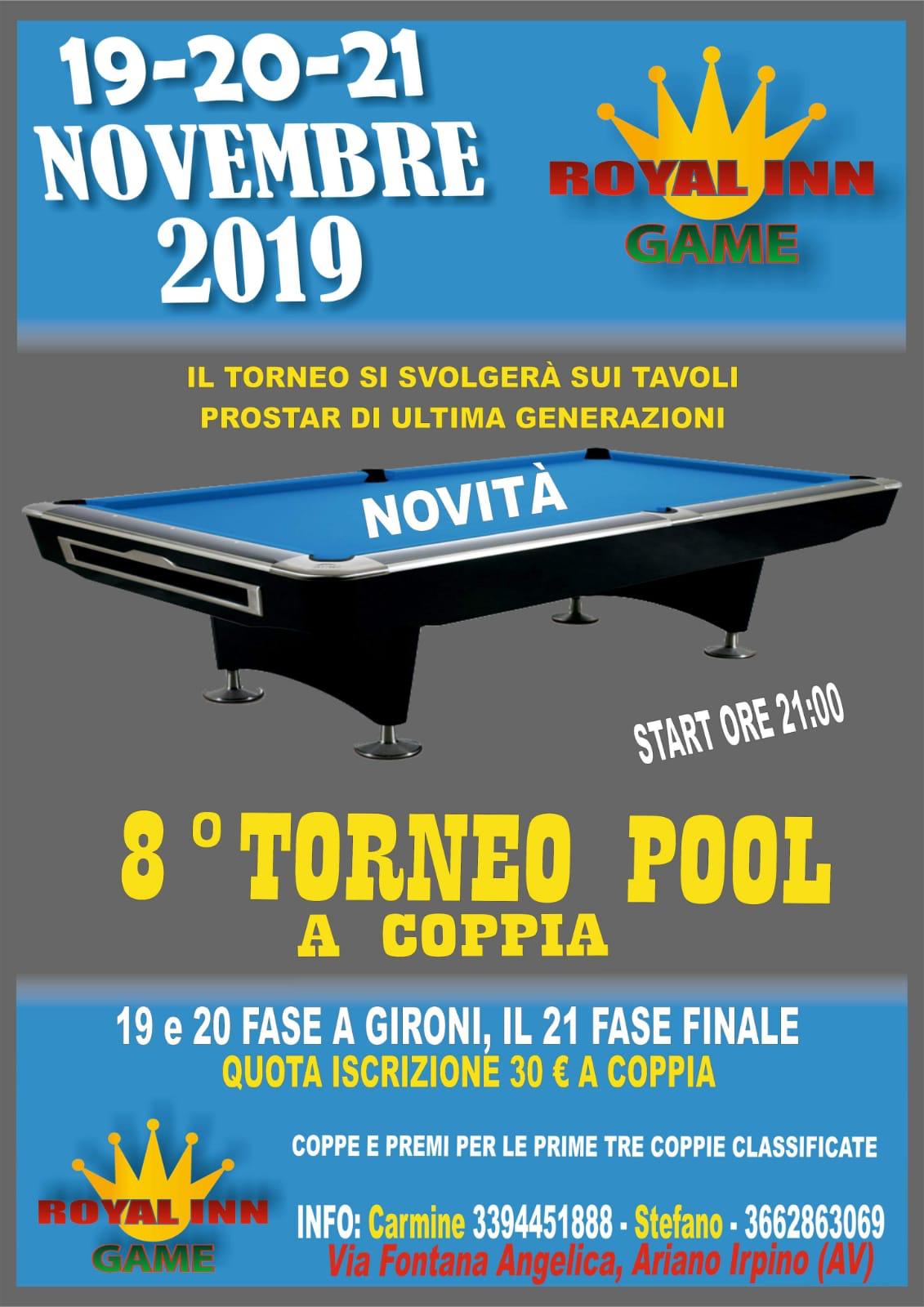 8° Torneo Pool a coppia